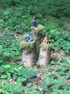 Fairy houses hidden in the forest
