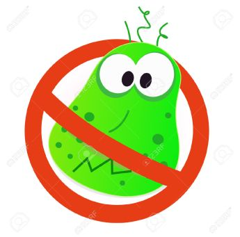 7026880-Stop-virus-green-virus-in-red-alert-sign-Stop-virus-warning-sign-illustration-of-germ-in-red-alert-c-Stock-Vector