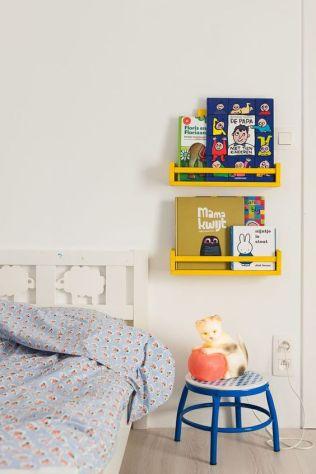 I love the IKEA spice racks as book shelves!