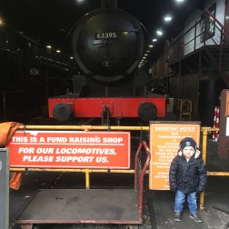 With a steam train