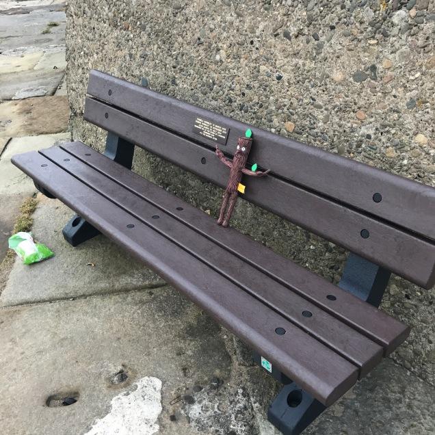 Stickman on a bench