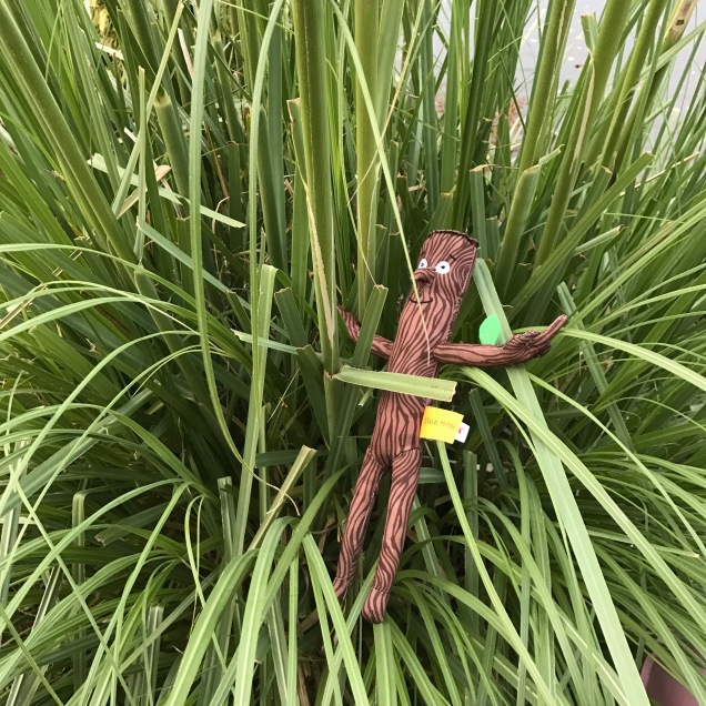 Stickman in a bush